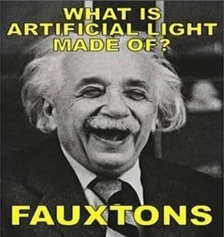 artificial puns photons light science faux funny - 7983457536