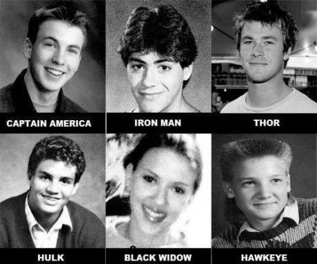 avengers hawkeye funny yearbook superheroes