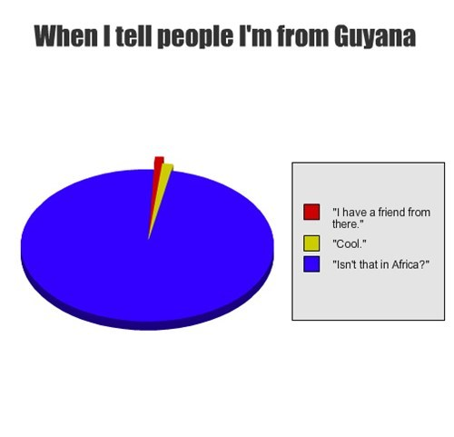 geography guyana Pie Chart south america - 7983825152
