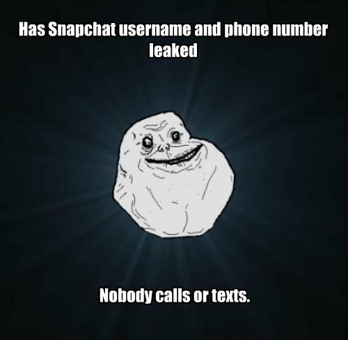 Has Snapchat username and phone number leaked Nobody calls or texts.
