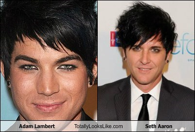 adam lambert,totally looks like,seth aaron