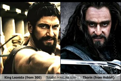 King Leonida (from 300) Totally Looks Like Thorin (from Hobbit)