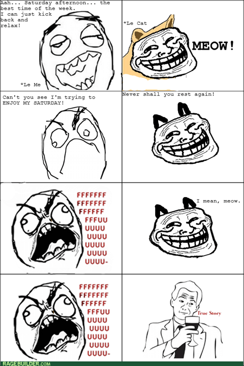 Cats trollface saturdays - 7984112896