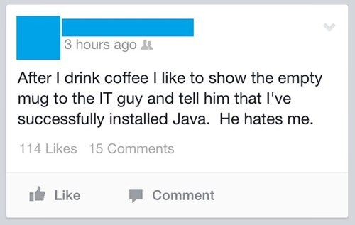 Java has been installed...