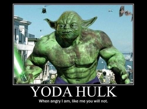 hulk,funny,star wars,yoda