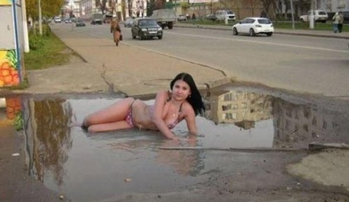 city models puddles wtf