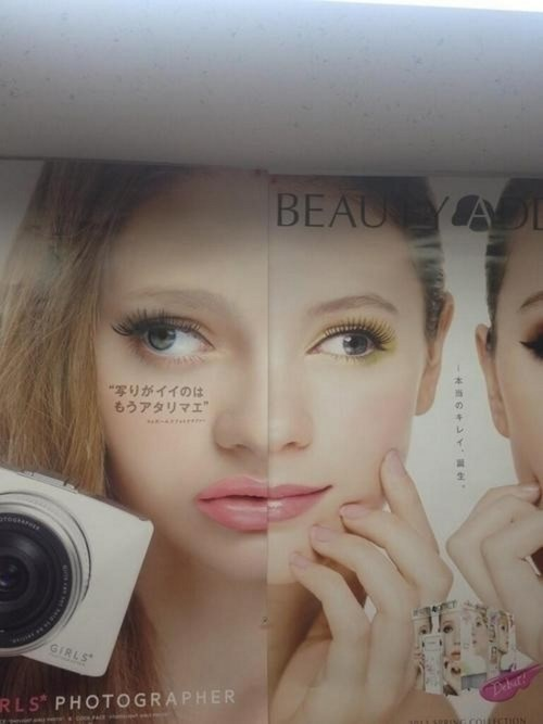 derp fashion makeup sign poorly dressed