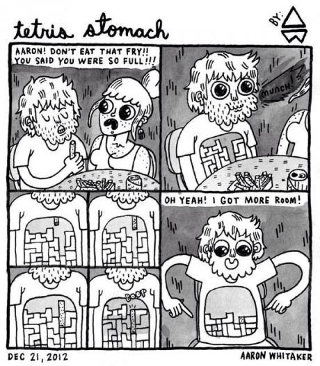 eating tetris stomach web comics - 7984665344