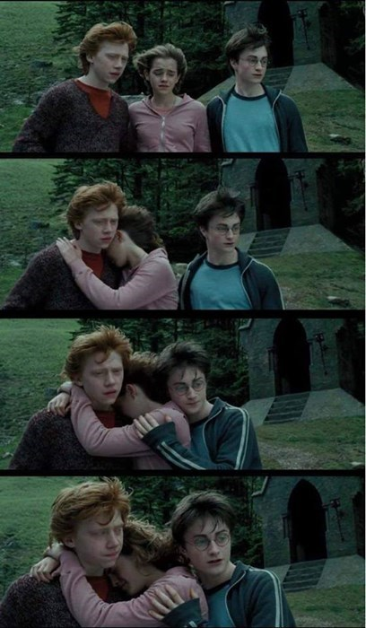 Harry Potter hermione granger Ron Weasley third wheel