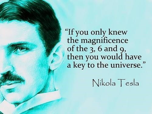 science numbers quotes Nikola Tesla universe - 7984723456