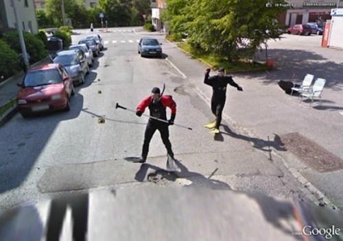 street view,weird,scuba