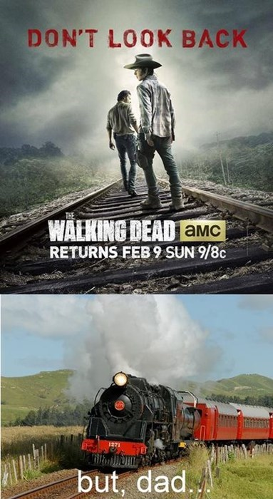 carl grimes,dont-look-back,Rick Grimes,train