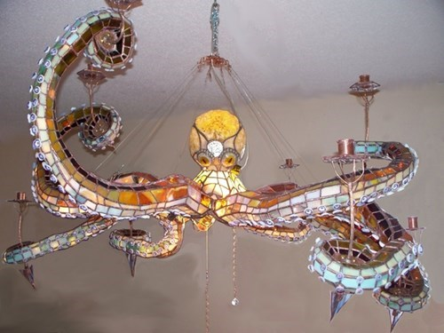 chandelier,design,octopus