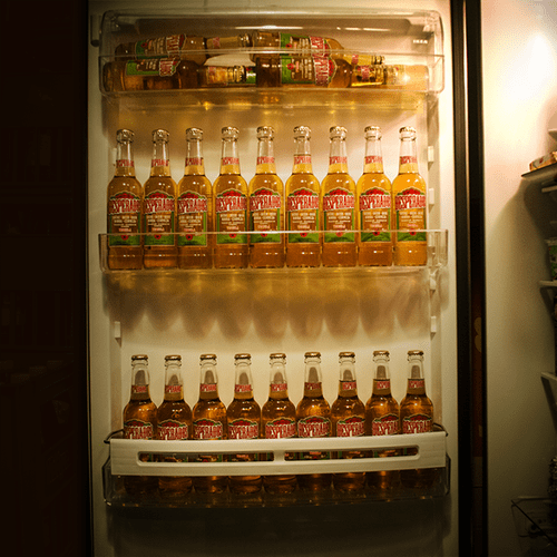 beer fridge full funny tequila