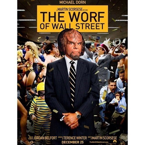 mashup Worf wolf of wall street
