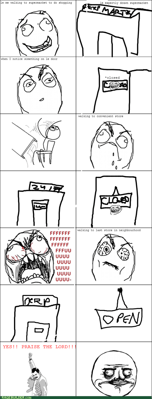 rage trollface shopping table flipping - 7984872448