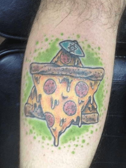 judaism cool pizza tattoos Ugliest Tattoos - 7984882944