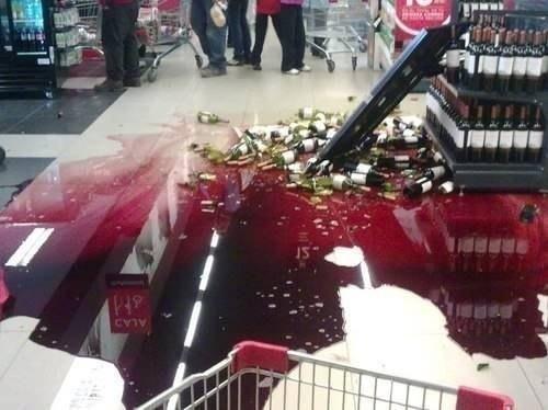 funny,store,wine,broken bottles