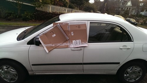 seattle,windows,cars,cardboard,tape,there I fixed it