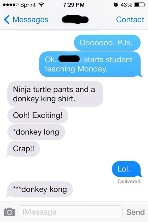 donkey kong autocorrect text teachers - 7985008384