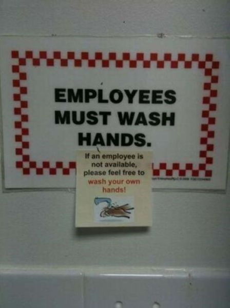 bathrooms employees work washing your hands - 7985053440