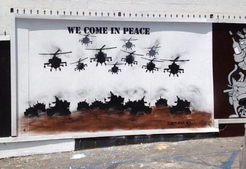 Street Art military america - 7985135360
