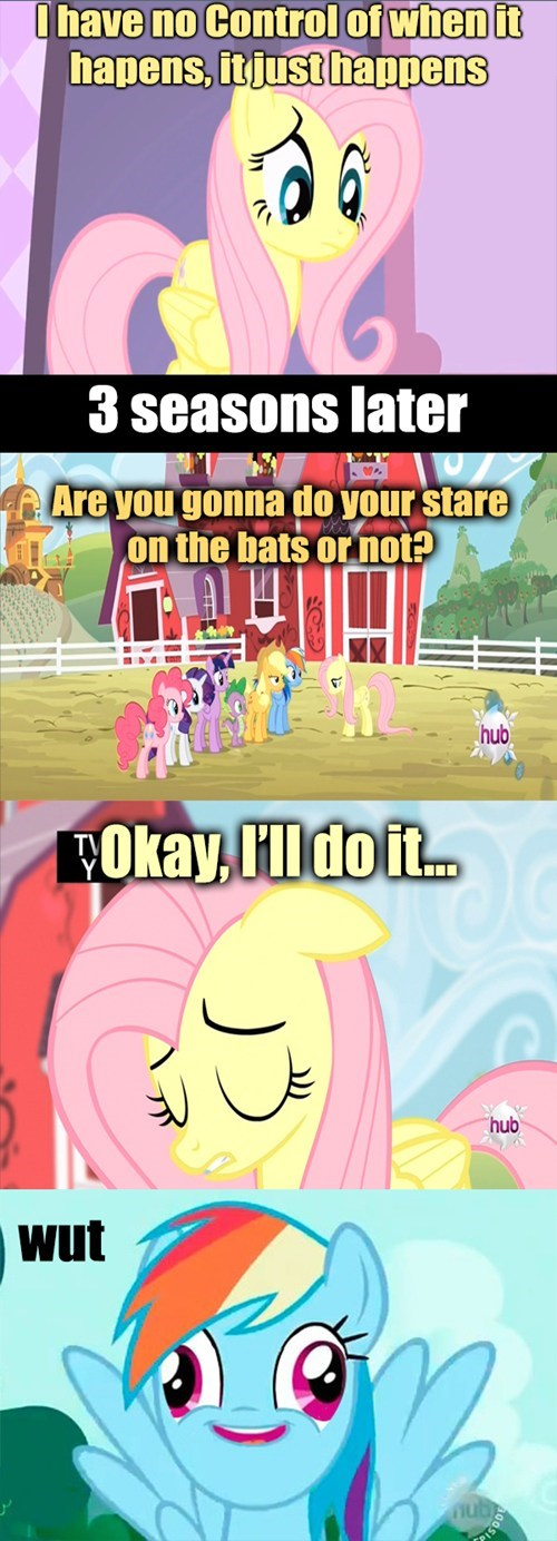 fluttershy stare mutant powers - 7985297920