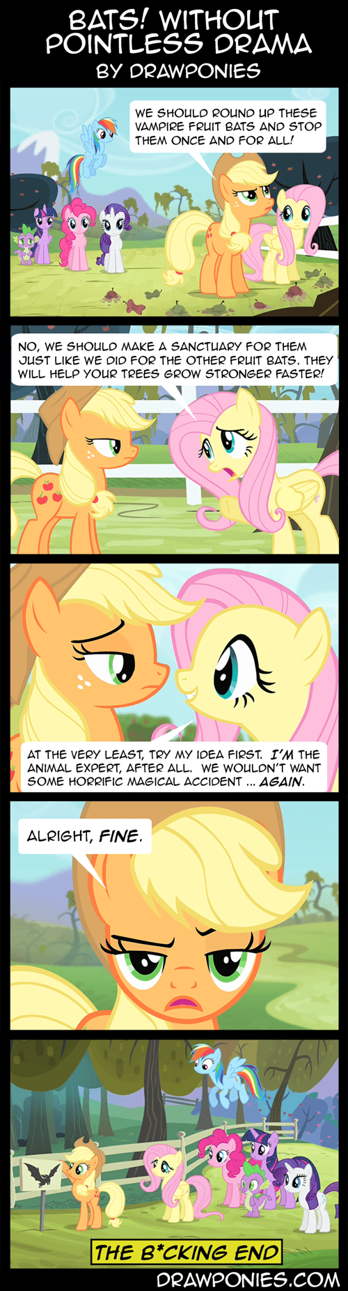 applejack,fluttershy,problem solved