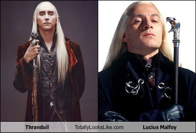 totally looks like Lucius Malfoy thranduil