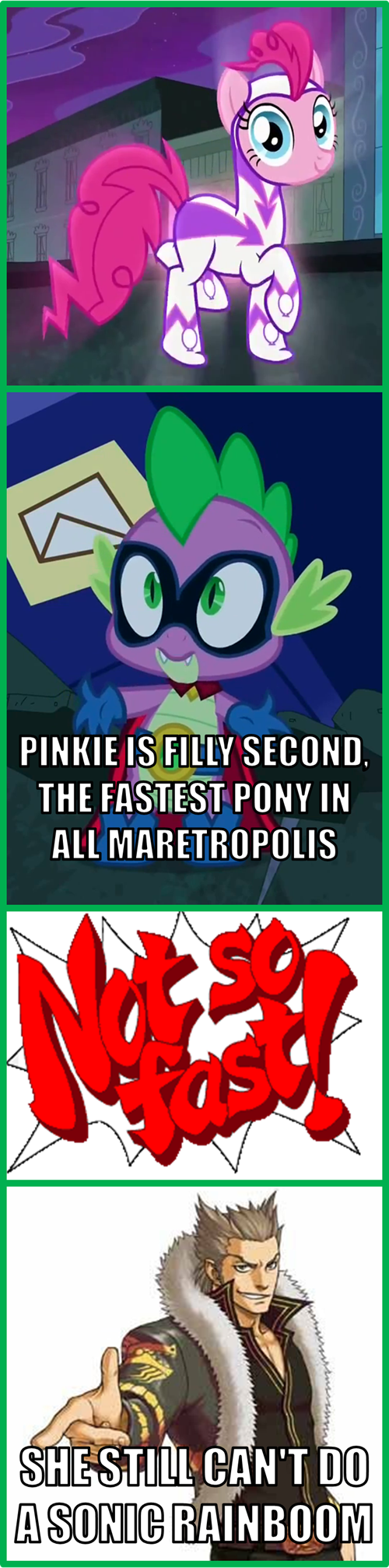 pinkie pie,rainbow dash,sonic rainboom,power ponies