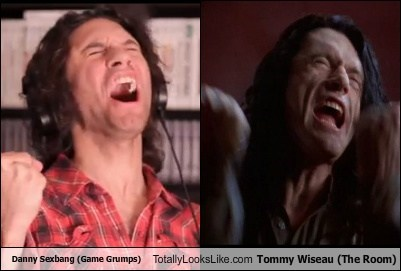 tommy wiseau,danny sexbang,totally looks like