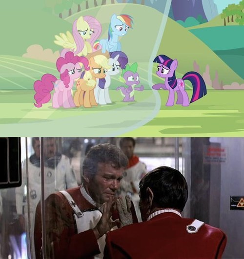 MLP kirk Spock mane 6 wrath of kahn - 7985950464