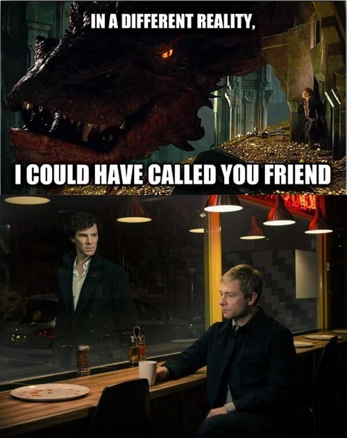 benedict cumberbatch The Hobbit Martin Freeman Sherlock - 7985990912