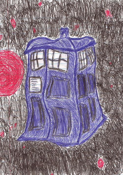 doctor who Fan Art tardis - 7986610688