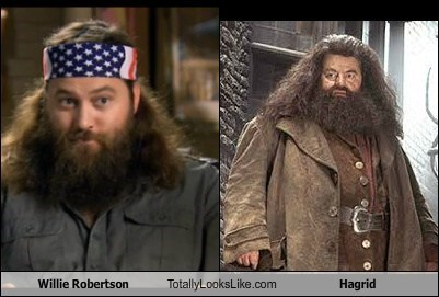 totally looks like,willie robertson,Hagrid