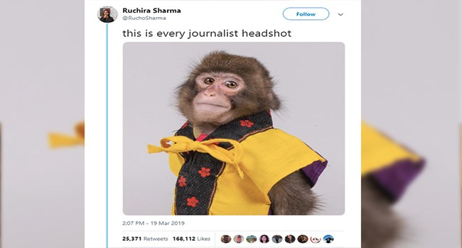 Monkey Meme - Monkey Journalist