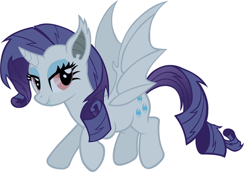 rarity flutterbat raribat batify the ponies - 7987600896