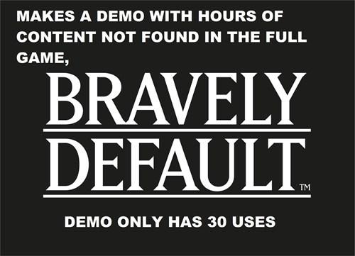 3DS demos bravely default - 7987770624