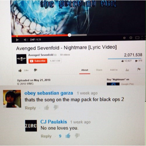 comments,youtube,black ops 2