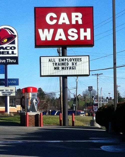 car wash Karate Kid mr miyagi - 7989114368