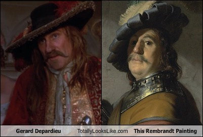 rembrandt,Gérard Depardieu,totally looks like