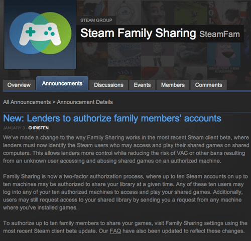 steam steam family sharing pc gaming Video Game Coverage - 7990270464