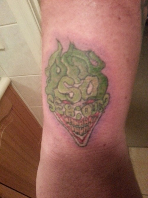 joker tattoos mess WHY SO SERIOUS - 7990290176