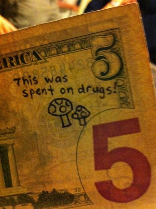 drugs dollar bills money - 7990322176