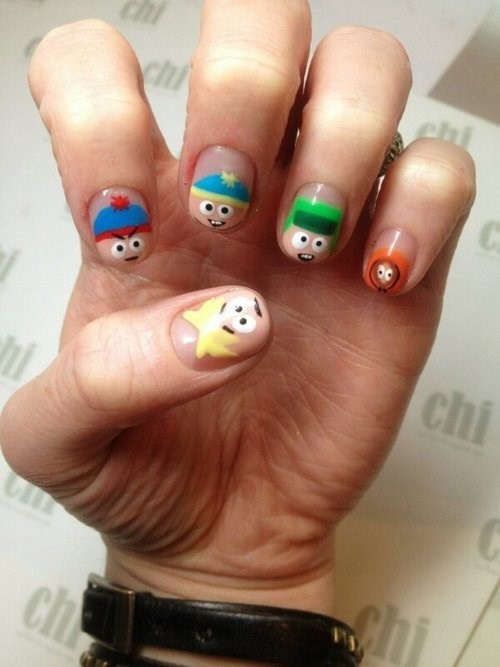 cartoons nail art South Park