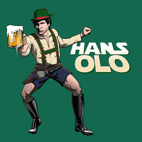 beer blaster Han Solo star wars ocktoberfest - 7990386688