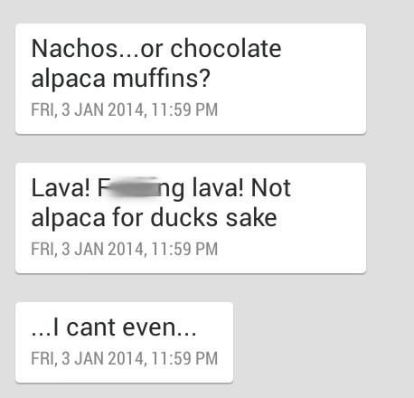 autocorrect,alpacas,muffins,text