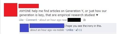 irony generation y laziness - 7990417408