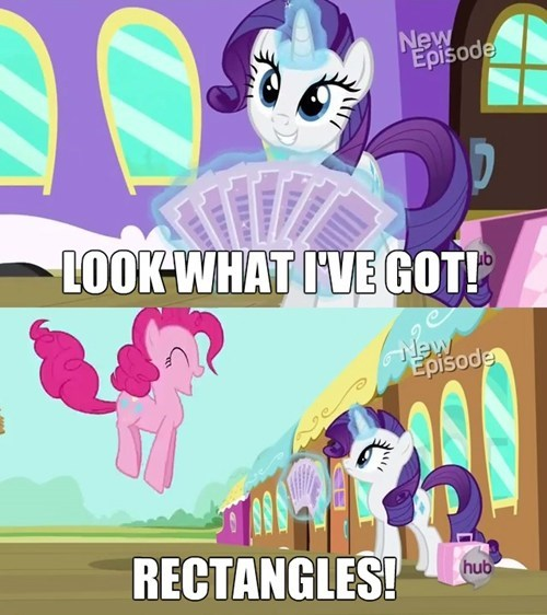 geometry pinkie pie rarity rectangles not squares - 7990500352