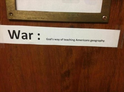 americans,geography,funny,war,g rated,School of FAIL